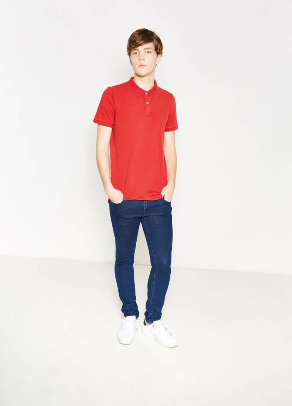Cotton embroidered polo shirt | OVS