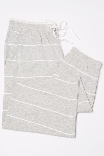 Pantaloni pigiama stretch fantasia, Grigio chiaro, hi-res