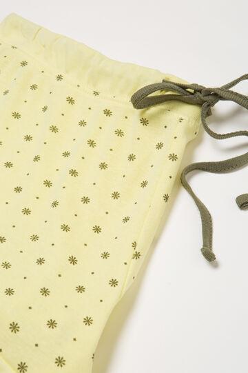 Printed pyjama shorts in cotton, Yellow, hi-res
