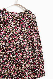 Smart Basic patterned stretch dress, Black/Pink, hi-res