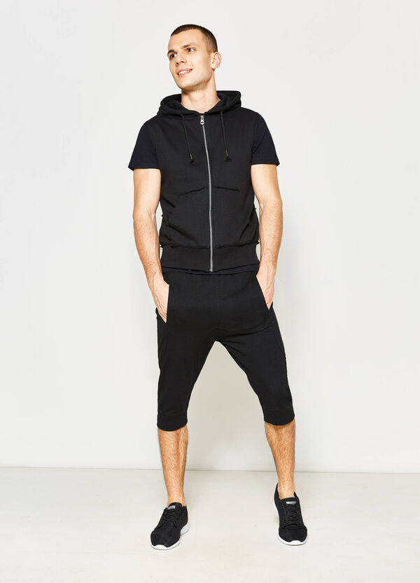 Sleeveless sweatshirt with raw edges | OVS
