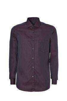 Patterned slim-fit shirt, Brown, hi-res