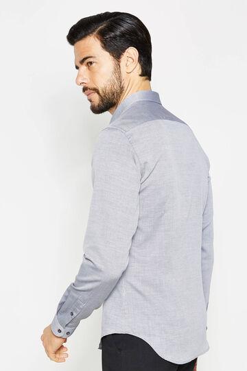 Camisa formal custom fit con fantasía