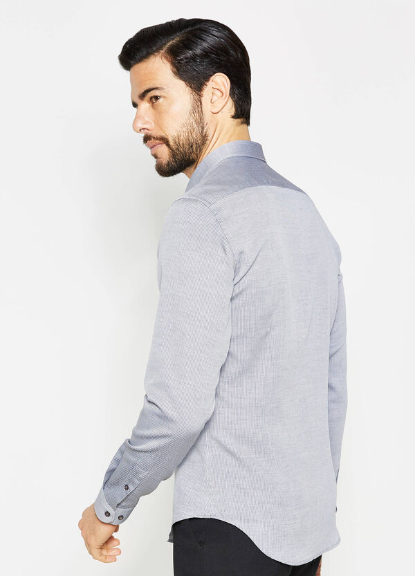 Camisa formal custom fit con fantasía | OVS