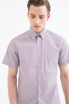 Regular fit check-patterned shirt, Claret Red, hi-res