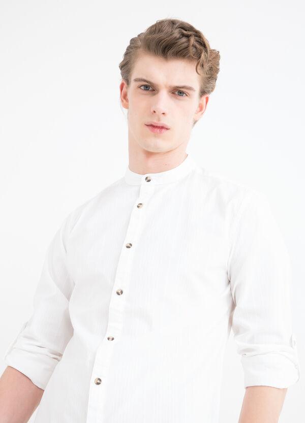 Camicia cotone colletto alla coreana | OVS