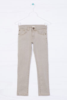 Five-pocket stretch trousers, Beige, hi-res