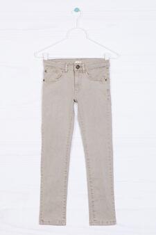 Pantaloni cinque tasche stretch, Beige, hi-res