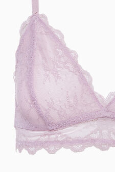 Lace triangle bra, Pink, hi-res