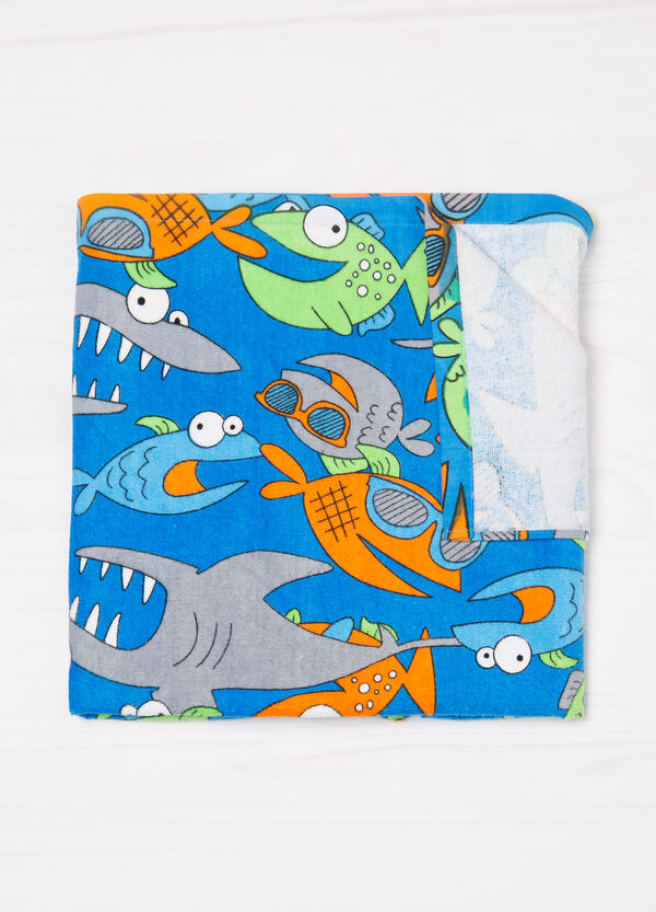 Cotton beach towel with fish pattern | OVS