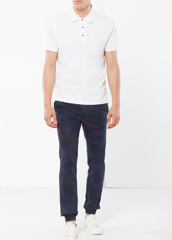 Cotton patterned chinos | OVS