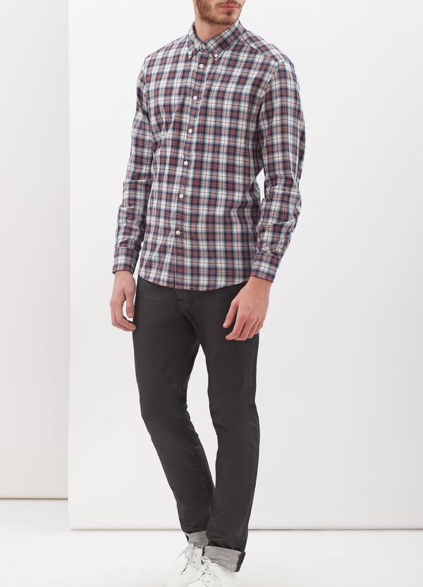 Regular fit flannel shirt | OVS