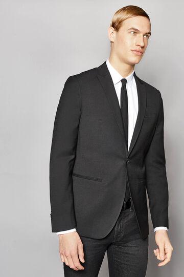 Patterned slim-fit elegant blazer