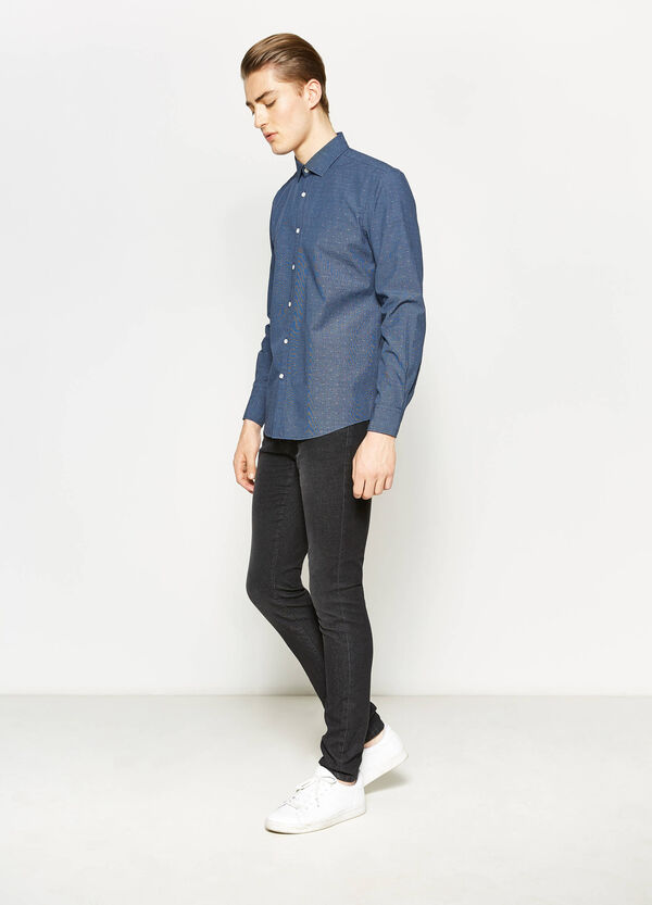 Patterned cotton casual shirt | OVS