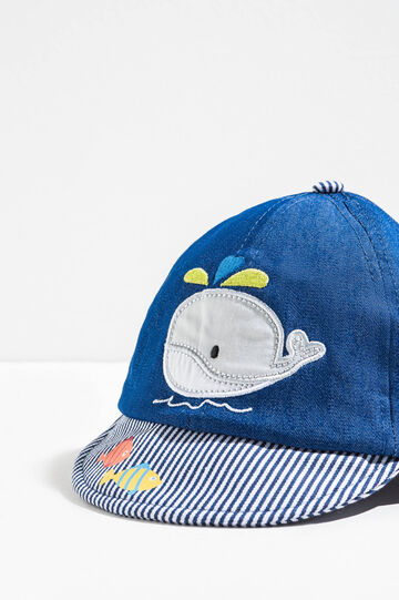 Baseball cap with embroidery and patch, Grey, hi-res