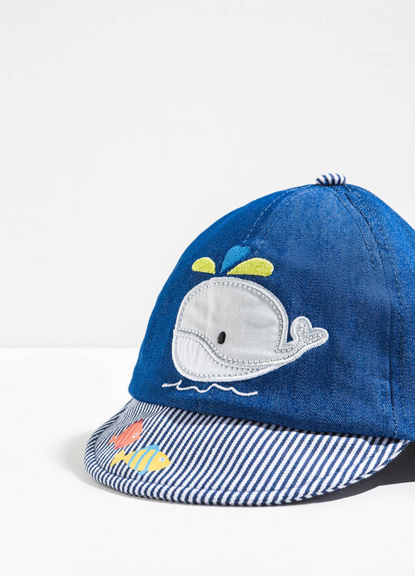 Baseball cap with embroidery and patch | OVS