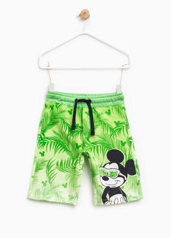 Patterned Bermuda shorts with Mickey Mouse print | OVS
