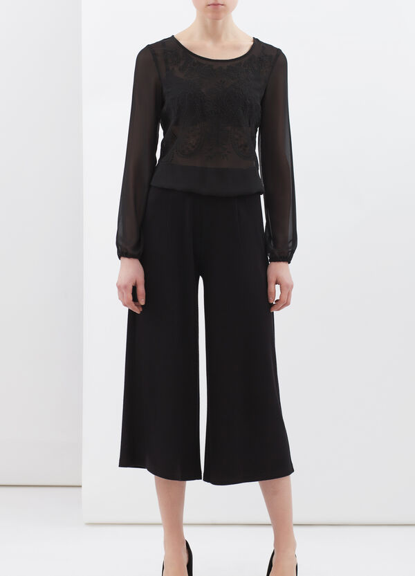 Pantaloni in crêpe tinta unita   OVS