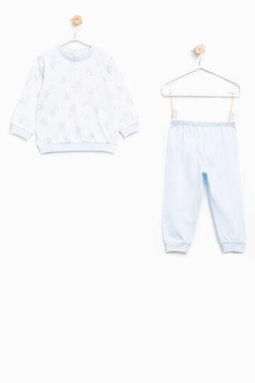 Pyjamas with animal pattern, White/Light Blue, hi-res