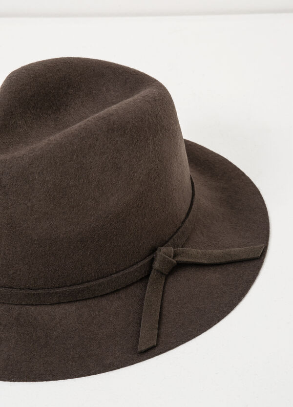 Wide-brim hat with bow | OVS