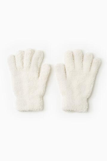 Solid colour cotton gloves, Cream White, hi-res
