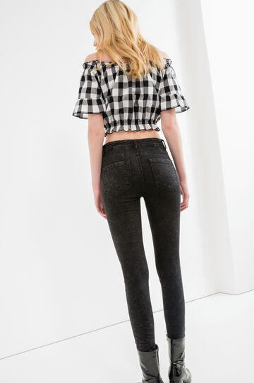Faded-effect, super skinny-fit jeans, Black, hi-res