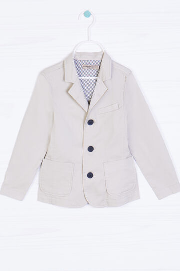 100% cotton jacket with buttons