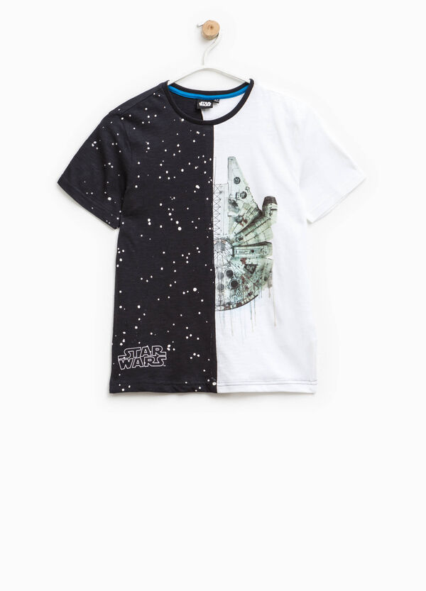 Patterned T-shirt with Star Wars print | OVS