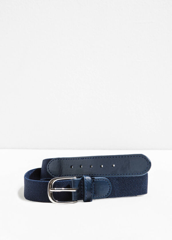 Elasticated belt with striped weave | OVS