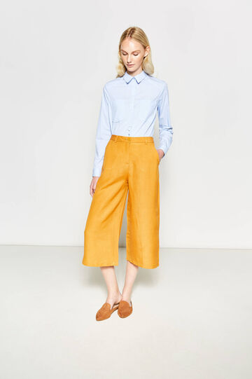 Crop palazzo trousers