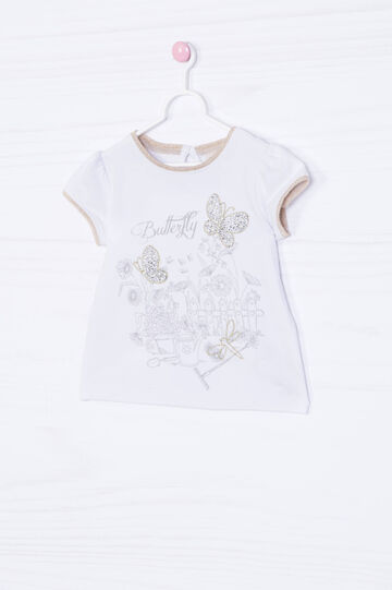 T-shirt stretch con stampa