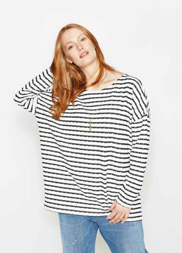 T-shirt a righe con pendente Curvy | OVS