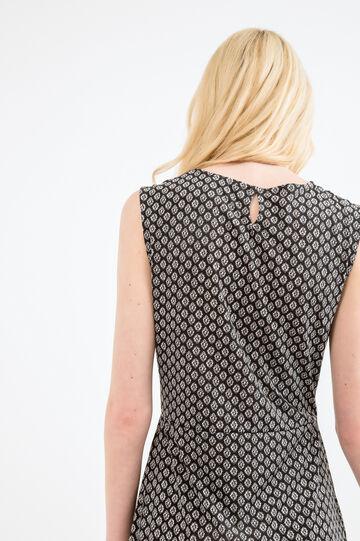 Stretch sleeveless dress, White/Black, hi-res