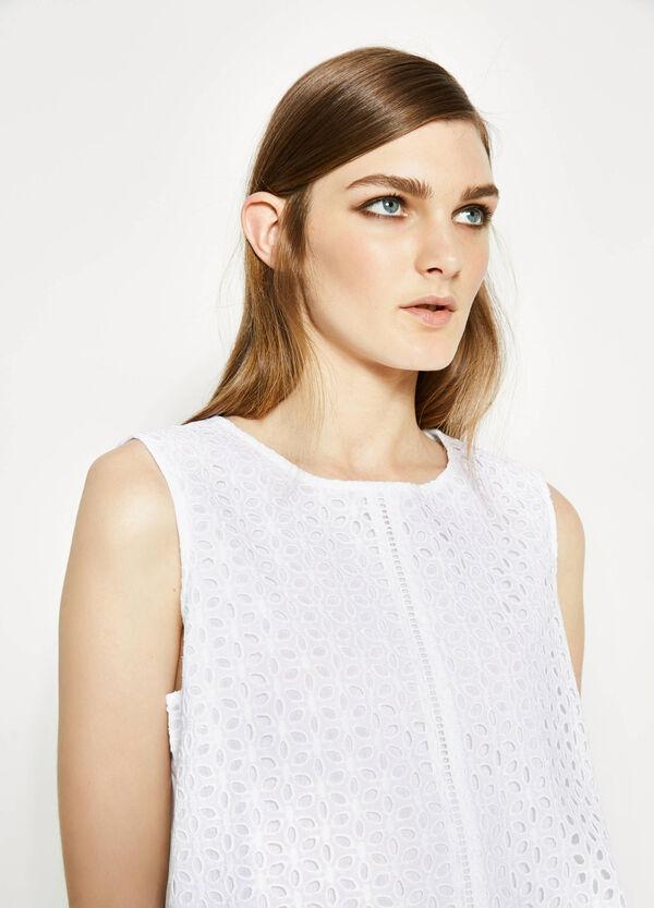 Sleeveless openwork blouse   OVS