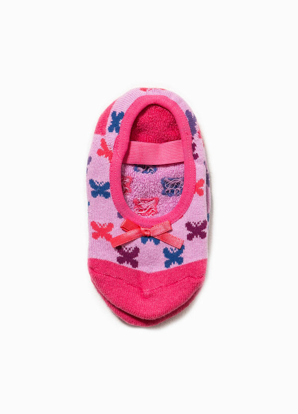 Patterned slipper socks with bow | OVS