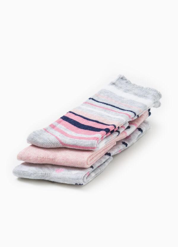 Set tre paia di calze lunghe fantasia | OVS