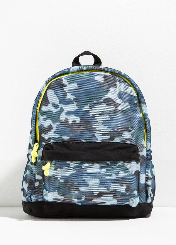Camouflage backpack with openwork design | OVS