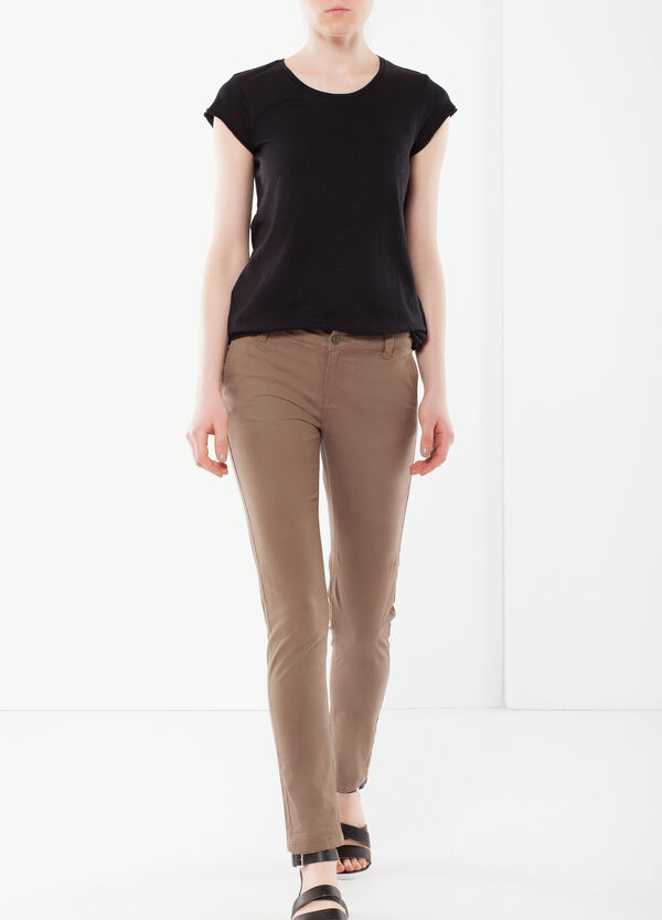 Stretch pants with zip | OVS