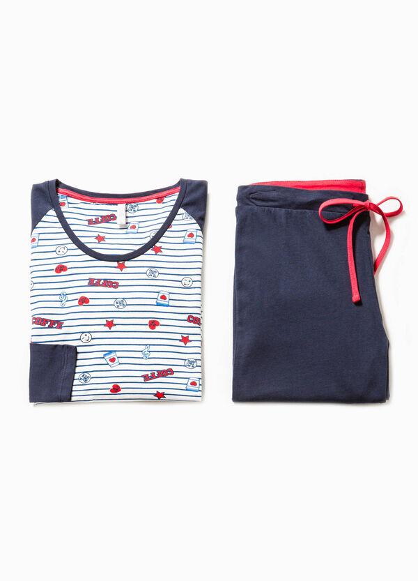 Pijama en algodón 100% con fantasía | OVS