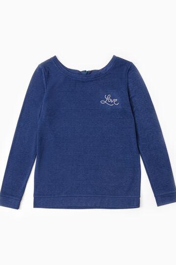 Maglia pigiama tinta unita, Blu scuro, hi-res