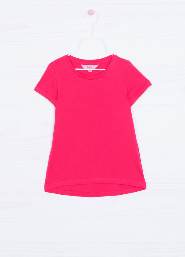 Solid colour T-shirt in 100% cotton   OVS