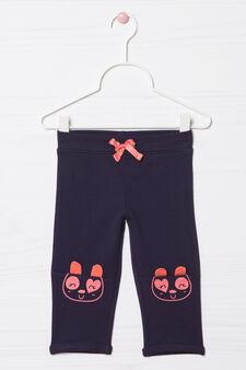 Pantaloni tuta stretch con coulisse, Blu navy, hi-res