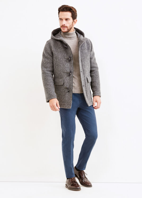 Wool blend Rumford coat with toggles | OVS