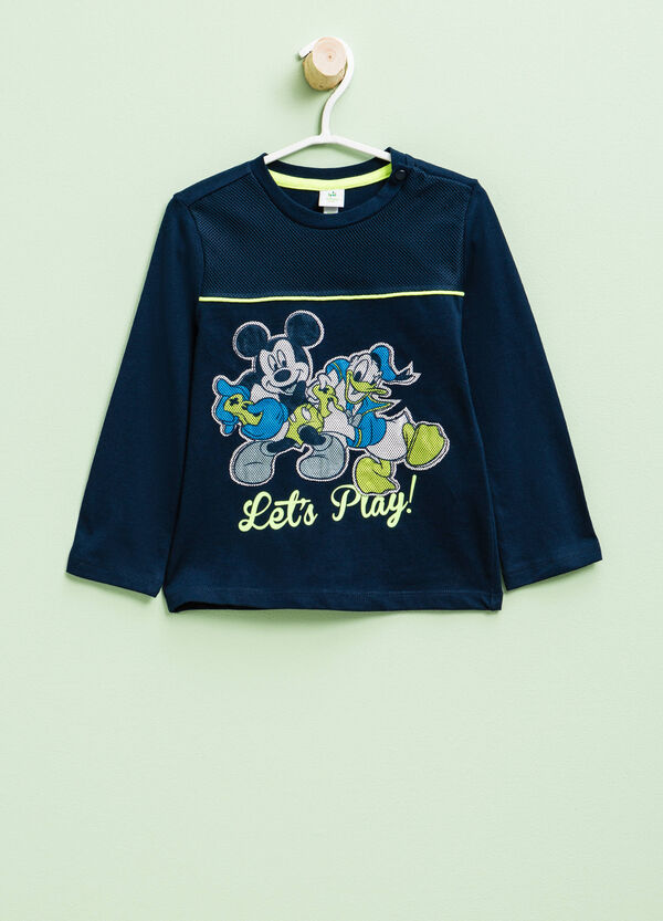 Disney print T-shirt with openwork insert | OVS