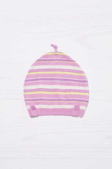 Striped cotton beanie cap