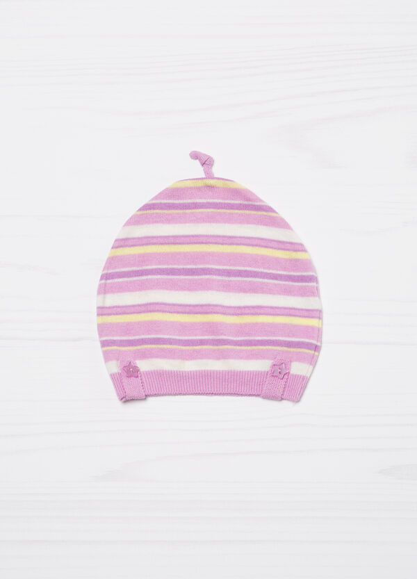 Striped cotton beanie cap | OVS