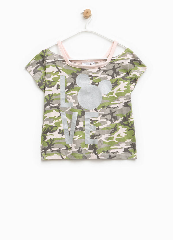 Mickey Mouse camouflage T-shirt | OVS