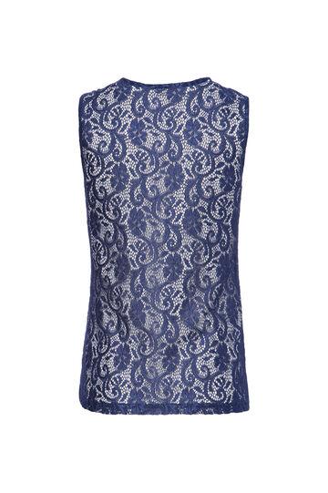 Smart Basic lace top, Blue, hi-res