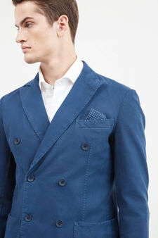 Stretch double-breasted Rumford jacket, Soft Blue, hi-res