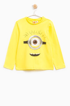 Minions print T-shirt, Lime Green, hi-res